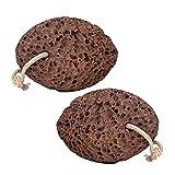 Revitale Piedra de piedra de piedra volcánica natural para pies – Estropajo de pedicura y removedor de callos/piel muerta dura, 2 Pack, 1