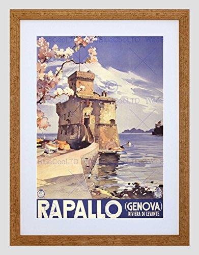 Travel Tourism RAPALLO Italy Castle Lake Genoa New Framed Art Print B12X11370