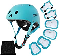 AIDY Kids Bike Helmet Toddler Helmet Adjustable for 3~10 years Girls Boys Knee Pads Elbow Pads Wrist Guards Kids Protective Gear Set for Skateboard, Bike, Roller Skating, Cycling, Scooter, Rollerblade