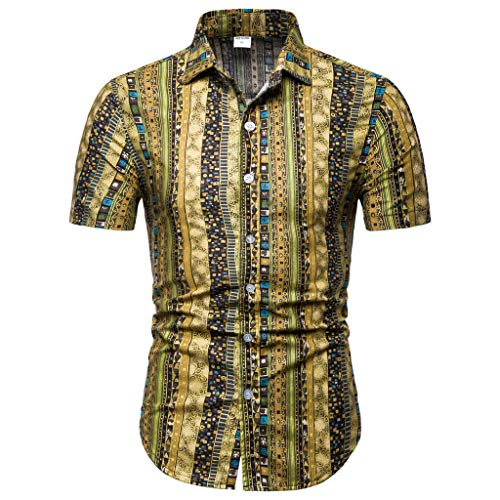 CICIYONER Herren Hemd Kurzarm Strandhemd Hawaiihemd Urlaub Hemd Freizeit Reise Hemd Party Hemd S M L XL XXL XXXL XXXXL