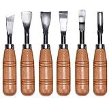 KEESIN Holzschnitzerei Werkzeug Set, 6 in 1 DIY Handwerk Schnitzmesser für die Holzbearbeitung Zimmerei, Skulptur
