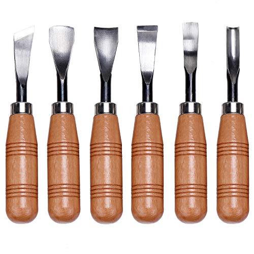 KEESIN Juego de herramientas de tallado de madera, 6 en 1, para tallar y tallar la madera
