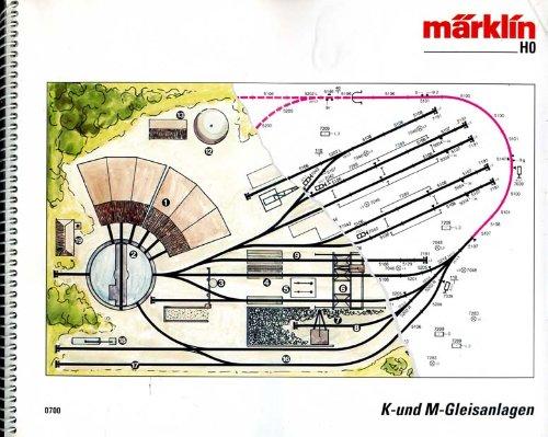 MÄRKLIN H0 Gleisanlagen Gleisplan Gleispläne 0700 K + M Gleis