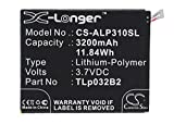 Replacement Battery Part No.TLp032B2 for Alcatel One Touch Pixi 3 8.0 3G, Alcatel One Touch Pixi 3...