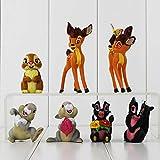 Plushe 7 Piccolo Cervo Bambi Scoiattolo Coniglio Giocattolo Bambola Modello Fatto a Mano Decorazione Torta Micro Decorazione Paesaggio Regalo