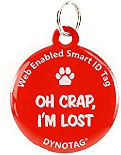 Dynotag Web Enabled Super Pet ID Smart Tag. Deluxe Coated Steel, with DynoIQ & Lifetime Recovery Service. Fun Series