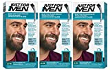 Just for Men Brush in Color Gelformel Bart Und Schnurrbart, schwarzbraun, 3er Pack (3 x 28.4 g)