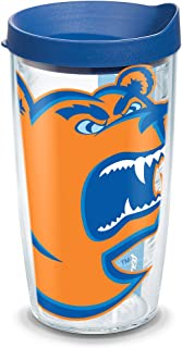 Tervis 1094338 USCGA Bears Mascot Colossal Tumbler with Wrap and Blue Lid 16oz, Clear