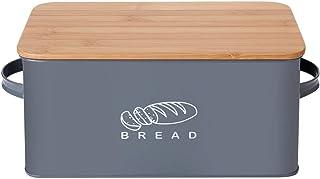 GA Homefavor Boîte à Pain Box à Pain Boîte à Pâtisserie en Métal Récipient pour Le Stockage de Pain Gâteau et Pâtisserie 3...