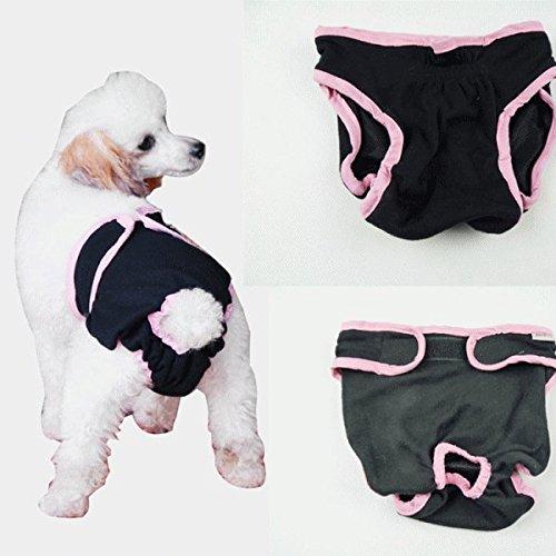 nikka(日華)犬用 サニタリーパンツ マナーパンツ 生理パンツ おむつカバー 女の子用 発情期用 メス 生理用 犬服 小型犬 中型犬 大型犬 ブラック Mサイズ