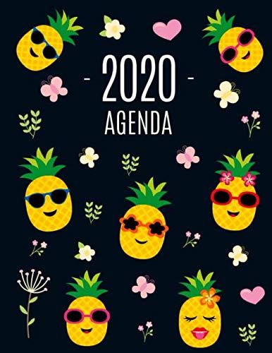 Piña Agenda 2020: Planificador Annual | Enero a Diciembre 2020 | Ideal Para la Escuela, el Estudio y la Oficina