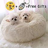 Lamzoom Cama para Mascotas Deluxe para Gatos y Perros pequeños y medianos con cojín Suave Redondo u Ovalado para Nido de Donut, Cama para Mascotas y Gatos para Gatos y Perros pequeños