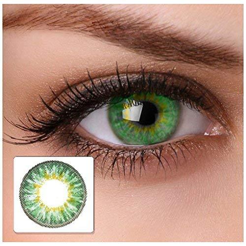 "Farbige Kontaktlinsen""cool green"" 2x grüne Kontaktlinsen ohne Stärke + gratis Kontaktlinsenbehälter - 3"