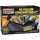 Contractor's Choice 50-Count 42-Gallon Outdoor Construction Trash Bags