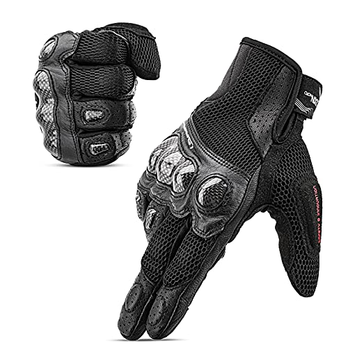 LEXIN Herren Handschuhe Motorrad, Rollerfahrer Handschuhe, Touchscreen Sport Handschuhe für Schlitten, Ski, Motorcross, Fahrrad, Mountainbike, Paintball und Mountainbike M