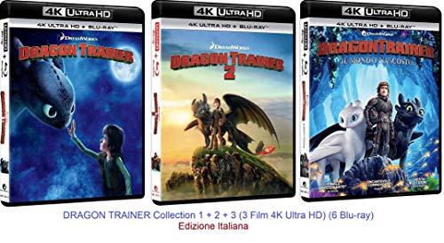 DRAGON TRAINER Collection 1 + 2 + 3 (3 Film 4K Ultra HD) (6 Blu-ray) Ed. Italiana