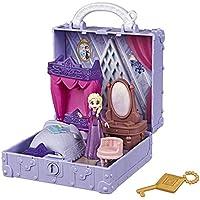Disney Frozen Pop Adventures Elsa's Bedroom Pop-Up Playset with Handle, Including Elsa Doll, Diary, Chair, & Blanket Accessories