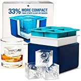 Eparé Clear Ice System - Mold Makes 4 Large Crystal Clear Ice Cubes - Compact Tray Makes Perfect 2 Inch Block...