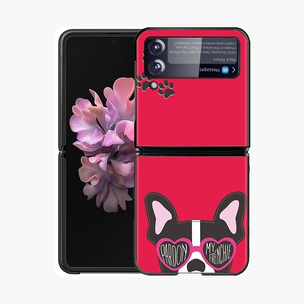 Case for Samsung Galaxy Z Flip 3 5G Case, Galaxy Z Flip 3 5G Hard PC Case, Hard PC Shell Ultra Thin Slim Durable Protective Phone Case Cover for Samsung Galaxy Z Flip3 5G Cover Bulldog Hard PC