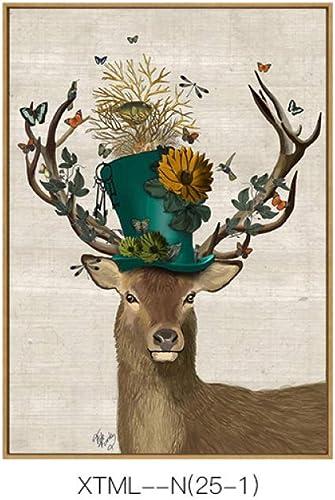 en linea CWJ Pintura Decorativa Moderna Fresca y y y Pastoral, Modelo Animal Creativo y Sala de Estar Exquisita Pintura Sola Colgante, Pintura de inyección de Tinta  ventas al por mayor