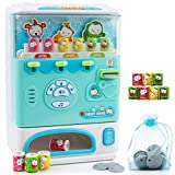 Adorable Vending Machine Toy for Kids in Blue Color Super Durable – Very Cute Design Electronic Drink Machine – Holiday Present Gift Toys for Children of 3 and up