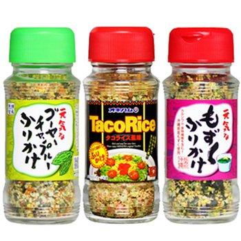 沖縄ふりかけ3種(タコライス・もずく・ゴーヤーチャンプルー)×2セット オキハム 沖縄の特産品や名物の味を手軽に味わえるふりかけセット お土産にも最適