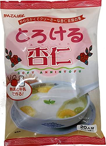 かんてんぱぱ とろける杏仁(杏仁豆腐の素60gX5)10個 シロップはついていません