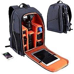 ALTINOVO Kamerarucksack mit Regenschutzhülle, Fotorucksack DSLR Kamera Rucksack für spiegelreflexkameras und zubehör kameratasche für Canon Nikon Sony,Gray