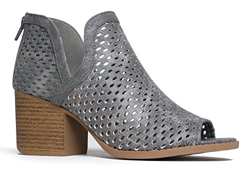 J. Adams Perch Perforated Bootie - Distressed...