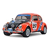 TAMIYA 58650 58650-1:10 RC VW Beetle Rally MF-01X, ferngesteuertes Auto/Fahrzeug, Modellbau, Bausatz, Hobby, Zusammenbauen, unlackiert