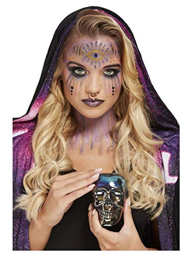 Smiffys 68029 Make-Up FX, Fortune Teller Kit, Aqua, Damen, multi, Einheitsgröße