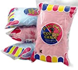 Cotton Candy Blue and Pink Party Flavors Supplies Birthday Treats for Kids, Kosher, 3oz Bag (3-Pack)