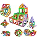 Magnetic Tiles Building Blocks Game Set Toys,Magnet Stacking Blocks, Magnetic Tiles for Girls and Boys Birthday Gift by DreambuilderToy (40 PC Set) (Pastel Color) from Dreambuildertoy