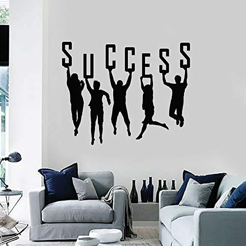 Éxito etiqueta de la pared texto mano de obra trabajo en equipo oficina decoración de interiores vinilo etiqueta de la ventana arte creativo mural
