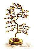 KPJAmber Lucky Tree - Albero decorativo in ambra naturale del Mar Baltico, fatto a mano, tipo Bonsai, 250 fogli, altezza 22 cm