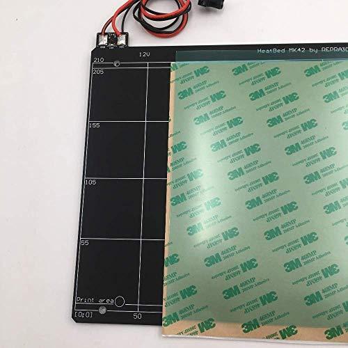 MK2S-Heizbett für Prusa i3 MK2 MK2S 3D-Drucker Heizbett mit PEI-Band-PCB-Klon, kompatibel mit Mini-Rambo 1.3a 3D-Druckzubehör