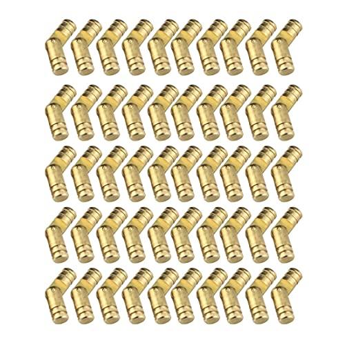 Zimjoy 50 Piezas Bisagras Ocultas Bisagras,Ocultas para Puertas Bisagra de Latón Muebles Bisagras de Latón Invisibles para Caja de Joyería de Bricolaje,Caja de Regalo,Caja de Joyería
