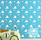 Toy Story style clouds/Cloud Wall Sticker/Cloud Pattern Wall Decal/Kids Room decoration/Nursery Decal/playroom/gift