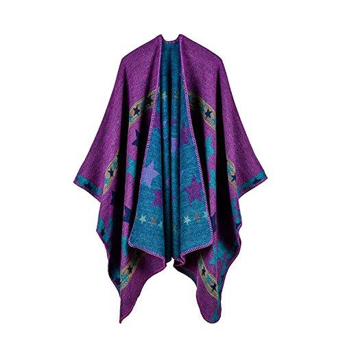 Gebreide poncho dames cape herfst bedrukt mouwloos onregelmatig locker casual kleding omslag doek cardigan outwear comfortabele coat moderne stijl young fashion retro