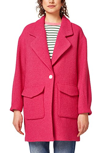 edc by ESPRIT Damen 028CC1G013 Mantel, Rosa (Pink Fuchsia 660), Medium