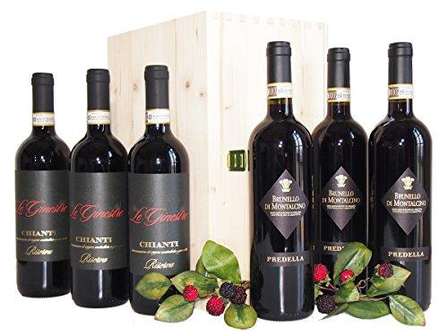 Brunello di Montalcino e Chianti i Migliori Vini Toscani – Elegante e Prestigioso Regalo Cassetta Vini Della Toscana - cod 177