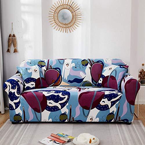 ASCV Fundas elásticas Funda de sofá elástica para Sala de Estar Funda de sofá seccional en Forma de L Funda de sillón A6 4 plazas