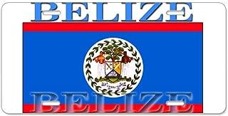 CafePress Belize Belizean Flag Aluminum License Plate, Front License Plate, Vanity Tag
