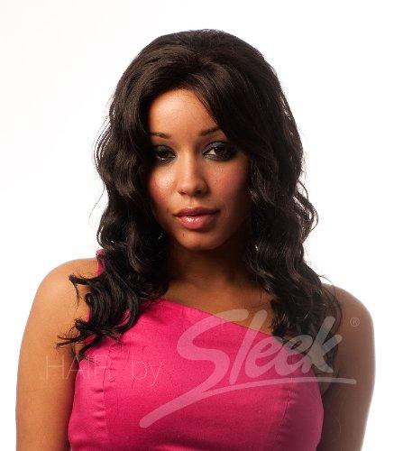 Allure Swiss Net Perruque 100 % cheveux humains Noir de jais