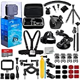 GoPro HERO7 (Hero 7) Silver with Essential 25 Piece Accessory Bundle - Includes: SanDisk Ultra 32GB MicroSDHC Memory Card, Premium Hard Case for GoPro, Chest Strap with Mount, Mini Tripod & Much More