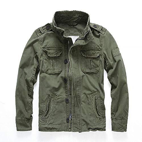 NOBRAND Chaquetas de combate de camuflaje para hombre, bolsillos militares, abrigos de...