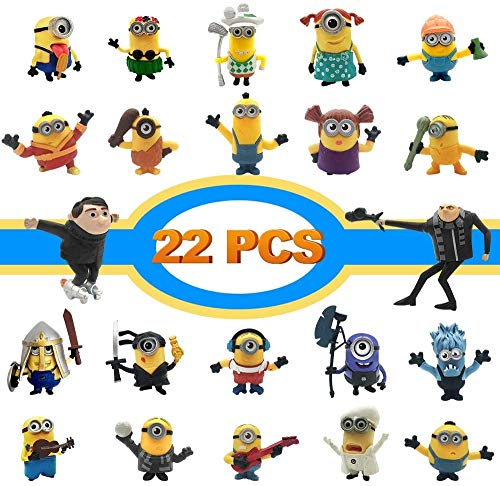 Action Figures, Anime Figures 22 PCS Film Characters Action Figures Pack - Cartoon Movie Mini PVC Figure Toy Playset for Decoration, Gift, Collection, Kids