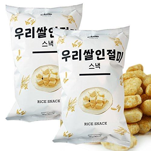 ROM AMERICA 2 Packs of Big Size Korean Rice Snacks...