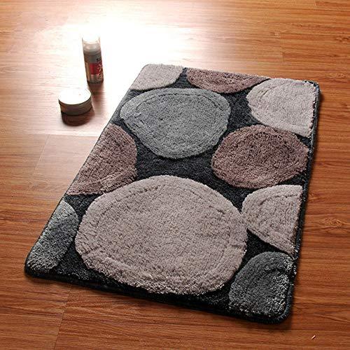 KEAINIDENI Wc-mat Rond Design Badmatten, Anti-slip Badkamer Tapijt Set en Tapijt, Deur Way Tapijt in Het Toilet,Vloerbadmatten voor Badkamer en Toilet about 50x80cm Huise