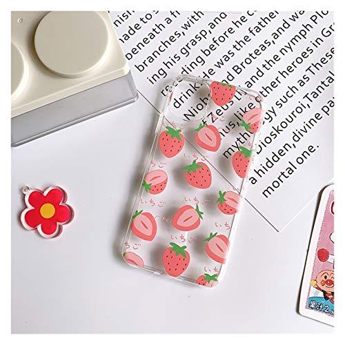 YLFC Funda De Verano para iPhone, Funda Suave Y Transparente para iPhone 12 11 Pro MAX XS MAX XR 7 8 Plus 12 Mini 7Plus (Color : 01, Size : For iPhone XS)